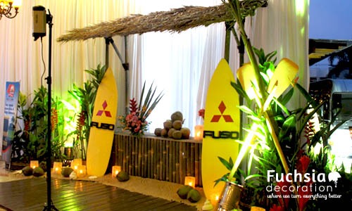 Beach corporate event fuchsia decoration wedding decoration beach corporate event junglespirit Choice Image