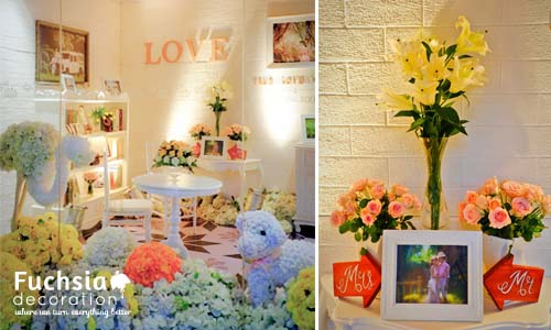 The sweetness of love fuchsia decoration wedding decoration the sweetness of love junglespirit Choice Image